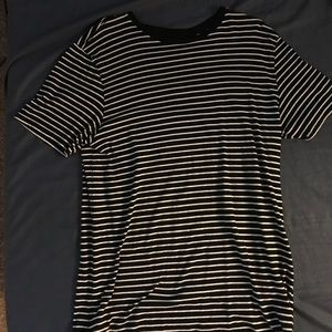 Black and White Striped Pacsun T-Shirt